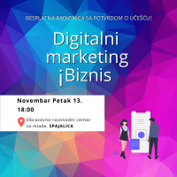 Radionica ,,Digitalni marketing i biznis